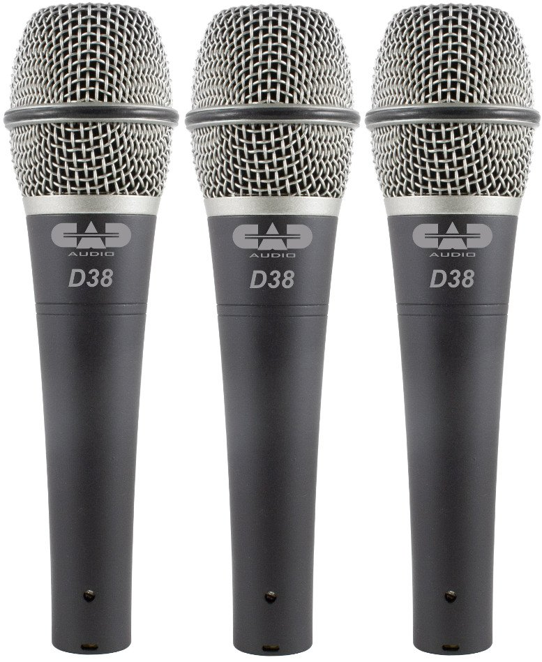 3-Pack of CADLive D38 Supercardioid Instrument Microphones