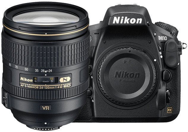 36.3MP D810 DSLR Camera with AF-S NIKKOR 24-120mm f/4G ED VR Lens