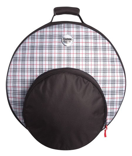 """Sabian F22BPD  Fast 22 Bold Cymbal Bag in Plaid, holds Cymbals up to 22"""" F22BPD"""
