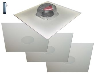 """Two-Source 6.5"""" Amplified Drop Ceiling Speaker Package with (4) Ceiling Speakers"""
