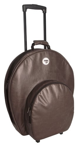 """Pro 24 Cymbal Bag in Vintage Brown with Wheels and Handle, holds Cymbals up to 24"""""""
