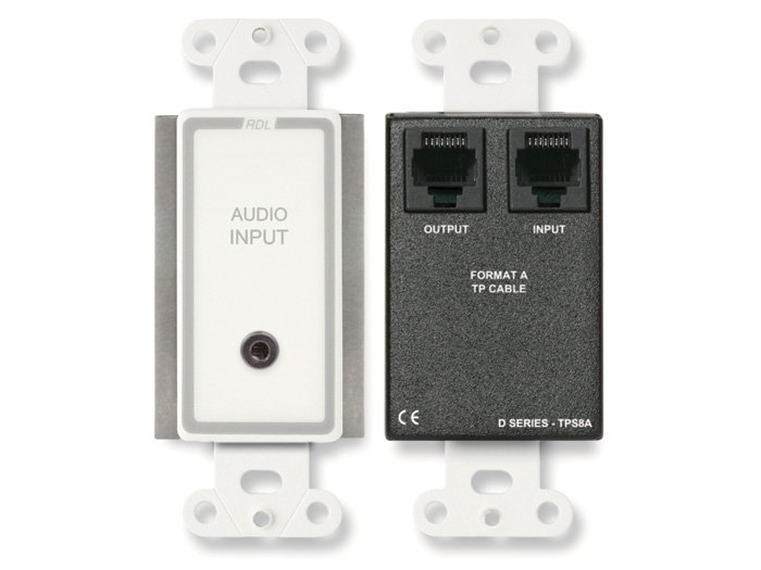 "Active Two-Pair Audio Sender, 1/8"" to RJ45"