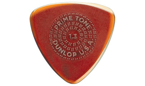 Primetone Small Tri Sculpted Plectra Guitar Pick with Grip