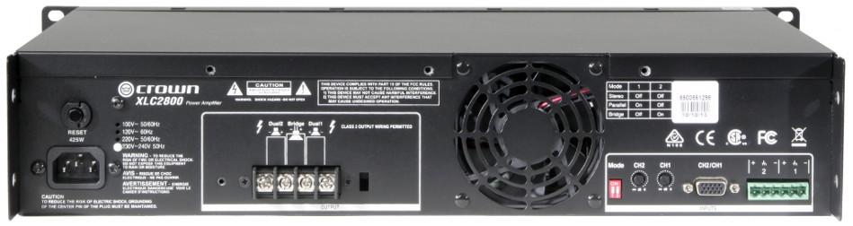 XLC Series Power Amplifier with 800W per Channel @ 4 Ohms