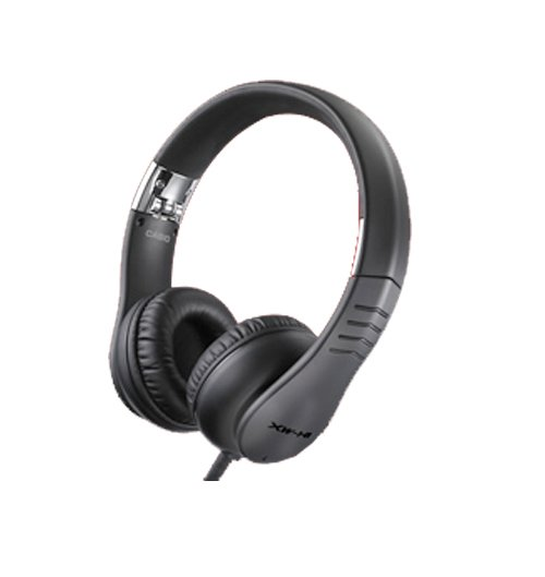DJ Headphones with Flexible Headband and Detachable Cable in Black