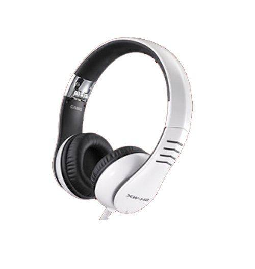 DJ Headphones with Flexible Headband and Detachable Cable in White