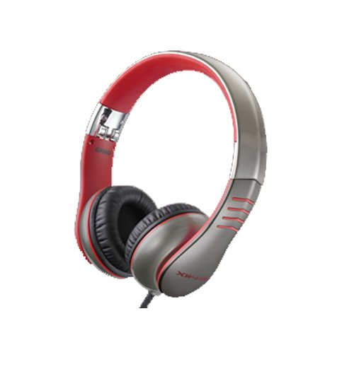 DJ Headphones with Flexible Headband and Detachable Cable in Red