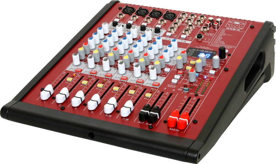 8 Channel Mixer with 4 Microphone Inputs