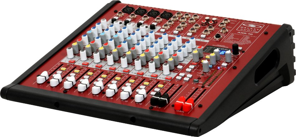 10 Channel Mixer with 4 Microphone Inputs