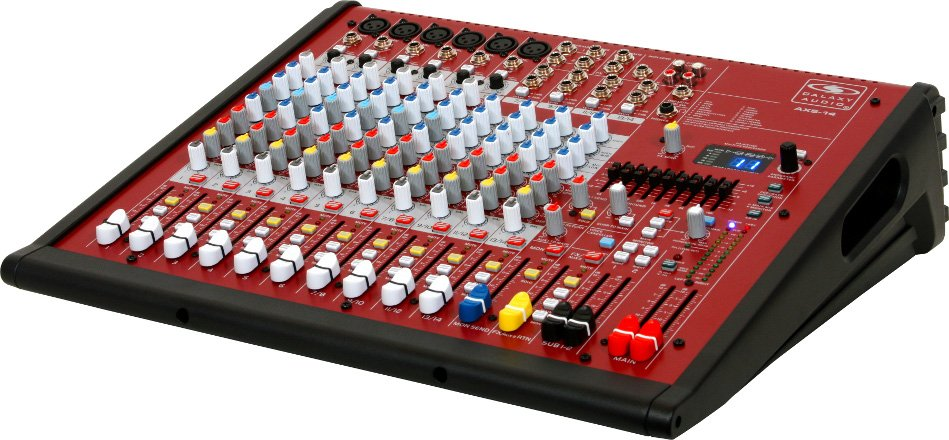 14-Channel Mixer with (6) XLR Inputs and USB Connectivity