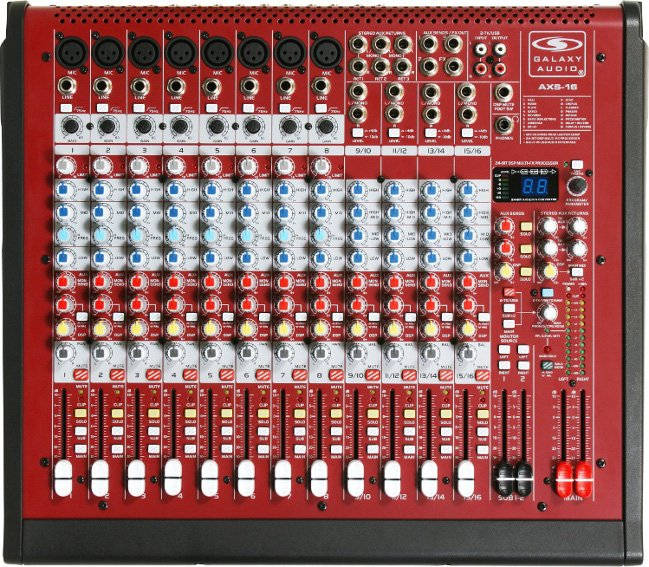 16 Channel Mixer with 8 XLR Mic and 4 Stereo Inputs