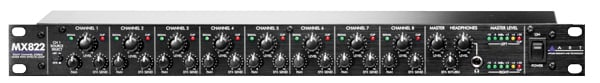 1RU 8 Channel Stereo Mic/Line Mixer with Effects Loop