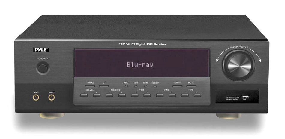 350W 5.1-Channel Home Theatre Receiver with Bluetooth, USB/SD Card Reader and AM/FM Tuner