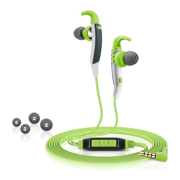 Sports Earbuds in Green with Inline Remote Control for Android Devices