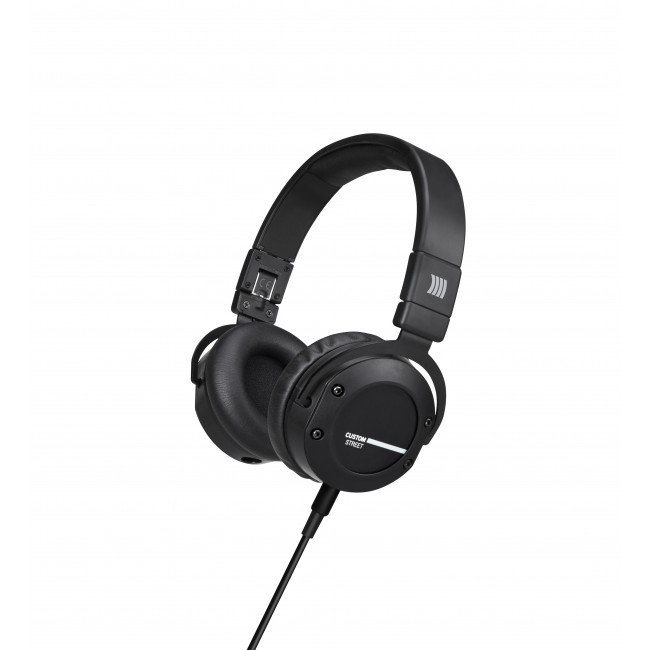 On-Ear Stereo Headphones with Detachable Cable and Interchangeable Designs, in Black