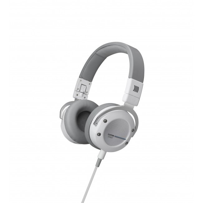 On-Ear Stereo Headphones with Detachable Cable and Interchangeable Designs, in White
