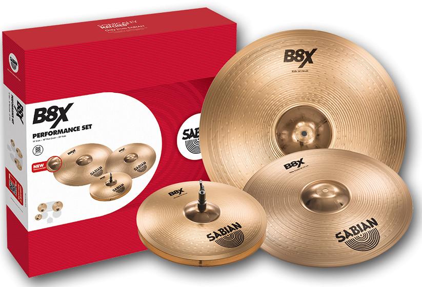 "B8X Performance Set with 14"" Hi-Hats, 16"" Thin Crash, 20"" Ride Cymbals"