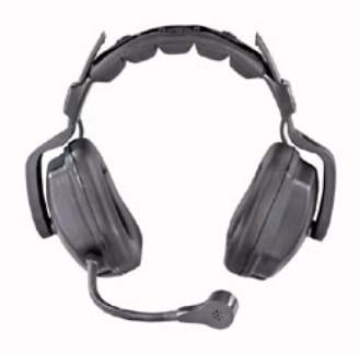 Ultra D Heavy Duty Dual-Ear Headset with 5-Pin Female XLR for Wired Intercoms