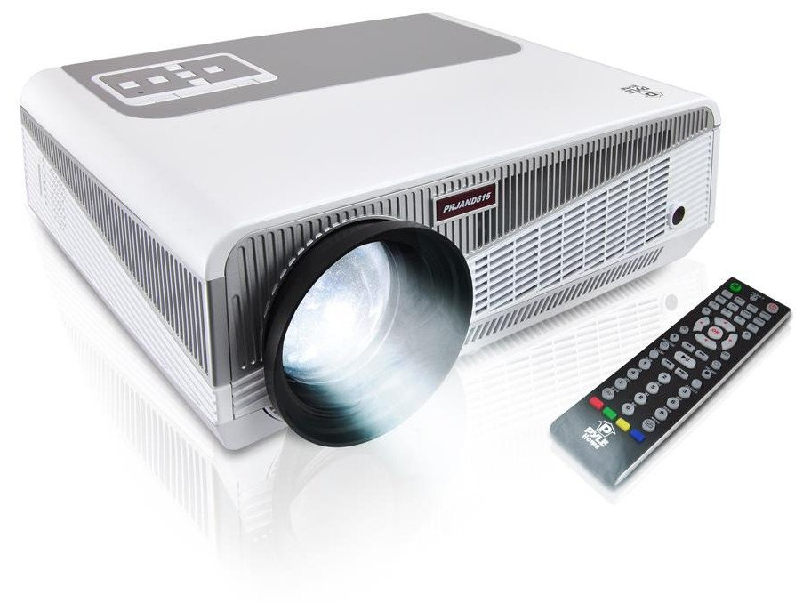 "3D HD 1080p Dual Core Android CPU Projector with 5.8"" LED and Wi-Fi Wireless Internet"