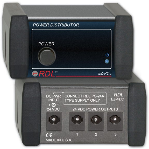 24V DC 1x3 Power Supply Distributor