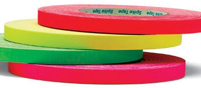 "Rose Brand Fluorescent Cloth Spike Tape 1/2"" x 45 Yard Roll CLOTH-SPIKE-TAPE-FLU"