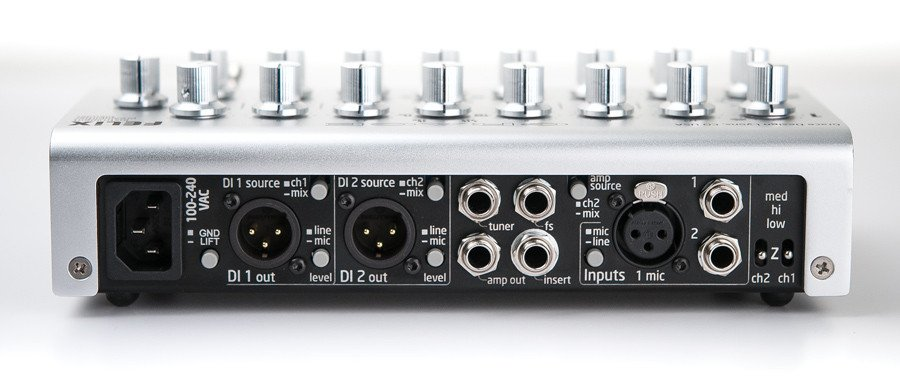 2-Channel Instrument & Microphone Preamplifier/Blender