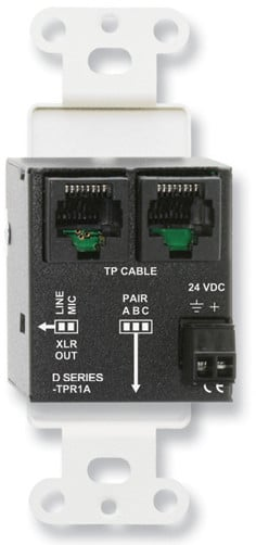 Active Single Pair Receiver - Twisted Pair Format-A - XLR Mic/Line Output