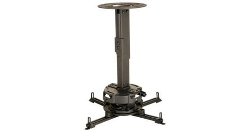 "Black Precision Gear 17""-25"" Adjustable Projector Ceiling/Wall Mount - 50lbs. Weight Capacity"
