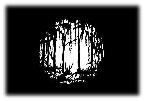 Steel Gobo with Scary Swamp Light Design