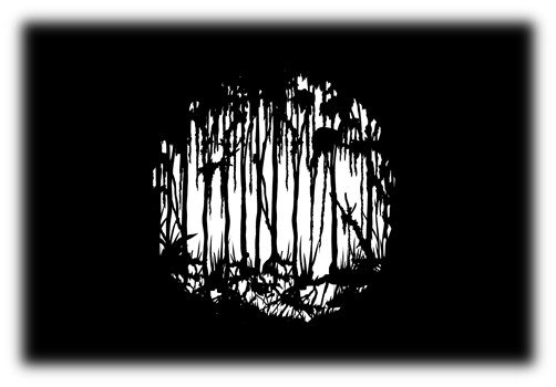 Steel Gobo with Scary Swamp Dark Design