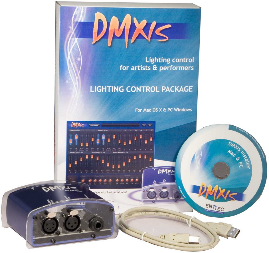Enttec 70570 DMXIS Lighting Control Software Package with Hardware Interface 70570