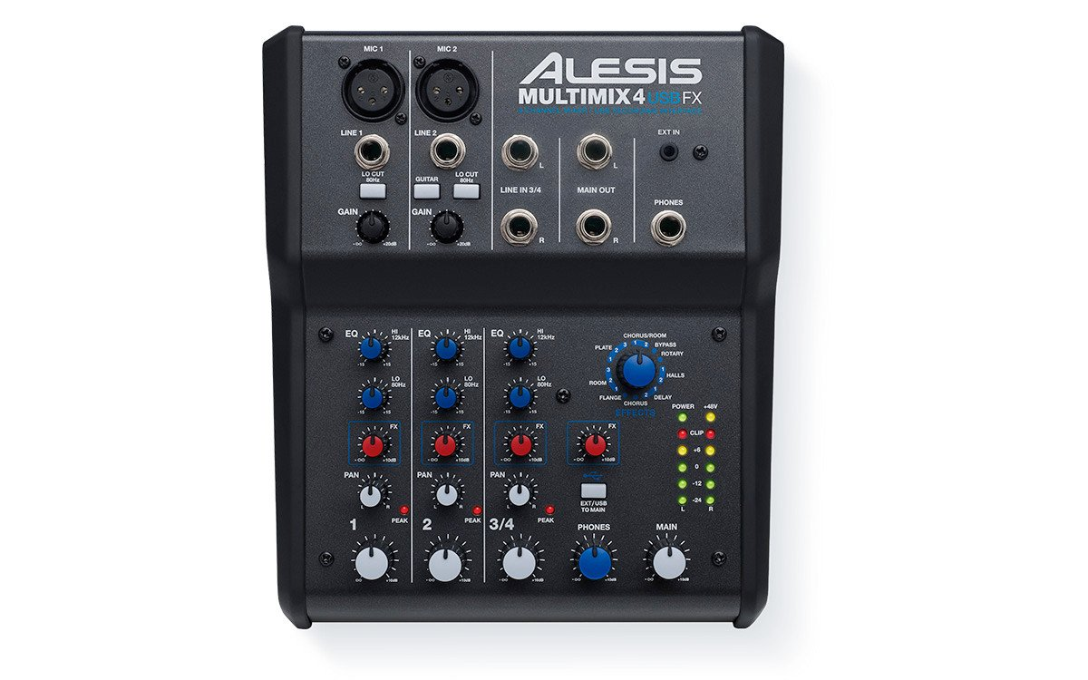 4-Channel USB Mixer with Effects