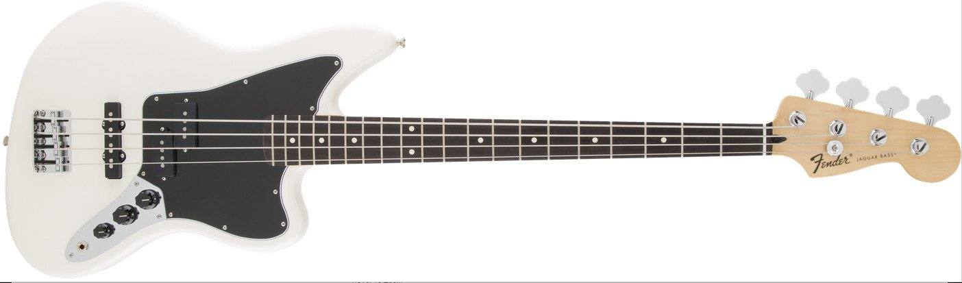 Olympic White Electric Bass