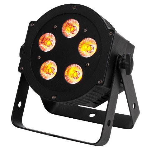 4x 5P Hex 6-in-1 LED Par Fixture with 1x RFC Remote Control