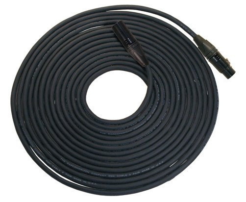 10 Foot Length of 3-Pin DMX, Neutrik Black XLRF to XLRM Cable