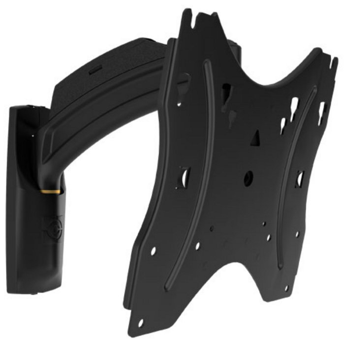 "Small Thinstall Single Swing Arm Wall Display Mount with 10"" Extension"