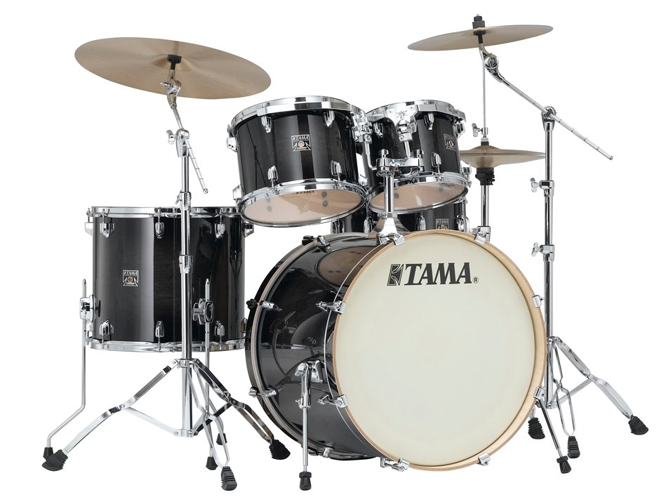 5 Piece Superstar Classic Maple Shell Pack in Transparent Black Burst Finish