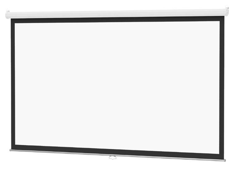 "Da-Lite 36458 109"" 16:10 Wide Format Model B with CSR Manual Screen with High Contrast Matte White Surface 36458"