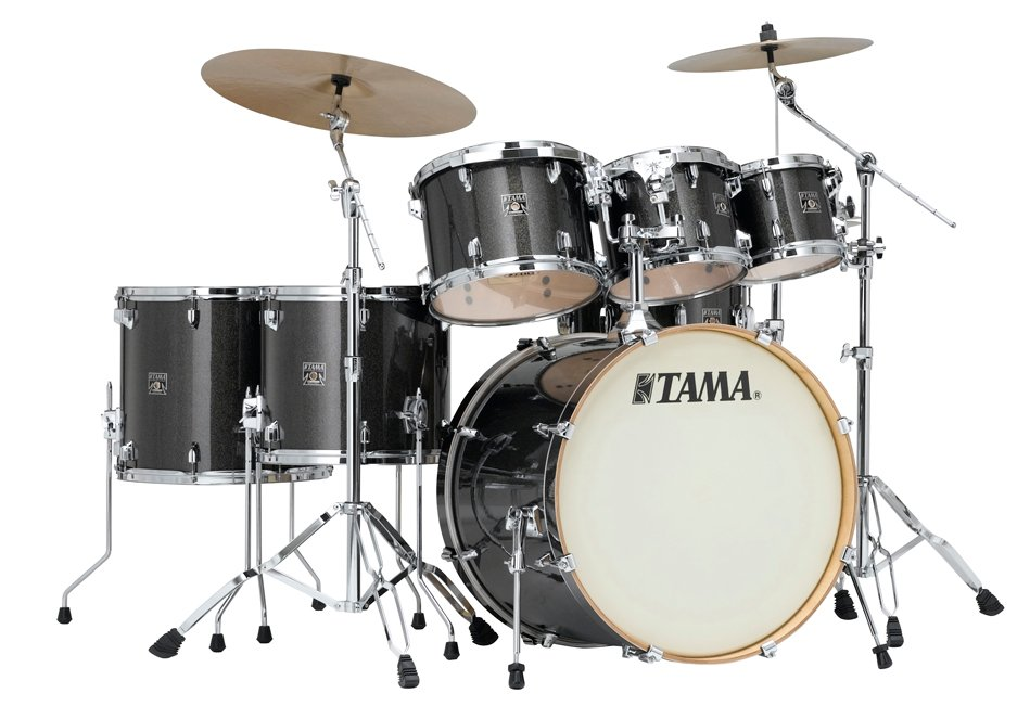 7 Piece Superstar Classic Maple Shell Pack in Midnight Gold Sparkle Finish