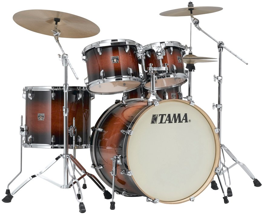 5 Piece Superstar Classic Maple Shell Pack in Mahogany Burst Lacquer Finish