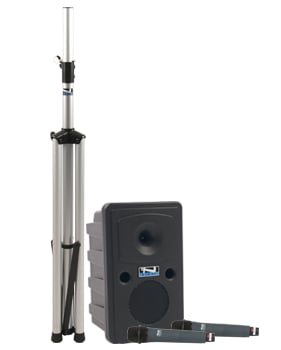Go Getter Dual Basic Bluetooth-enabled PA System with Bodypack Transmitter, Collar Microphone and Choice of 2nd Transmitter/Mic