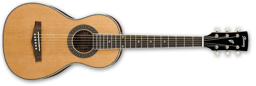 Natural High Gloss PF Performance Series Parlor Acoustic Guitar