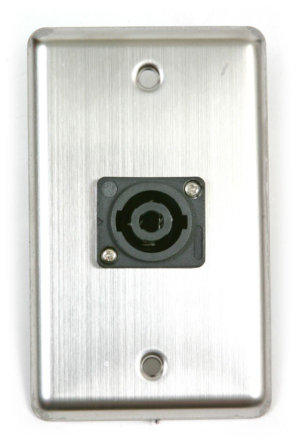 Single-Gang Stainless Steel Wallplate with (1) SpeakOn Connector