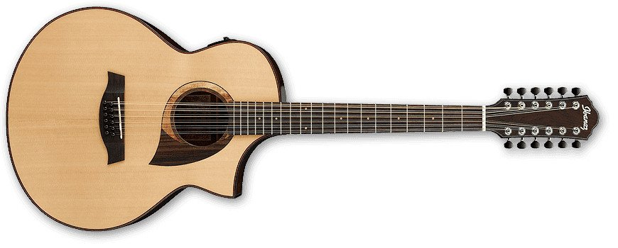 Natural High Gloss AEW Series 12-String Acoustic/Electric Guitar with AEQ-SP2 Preamp