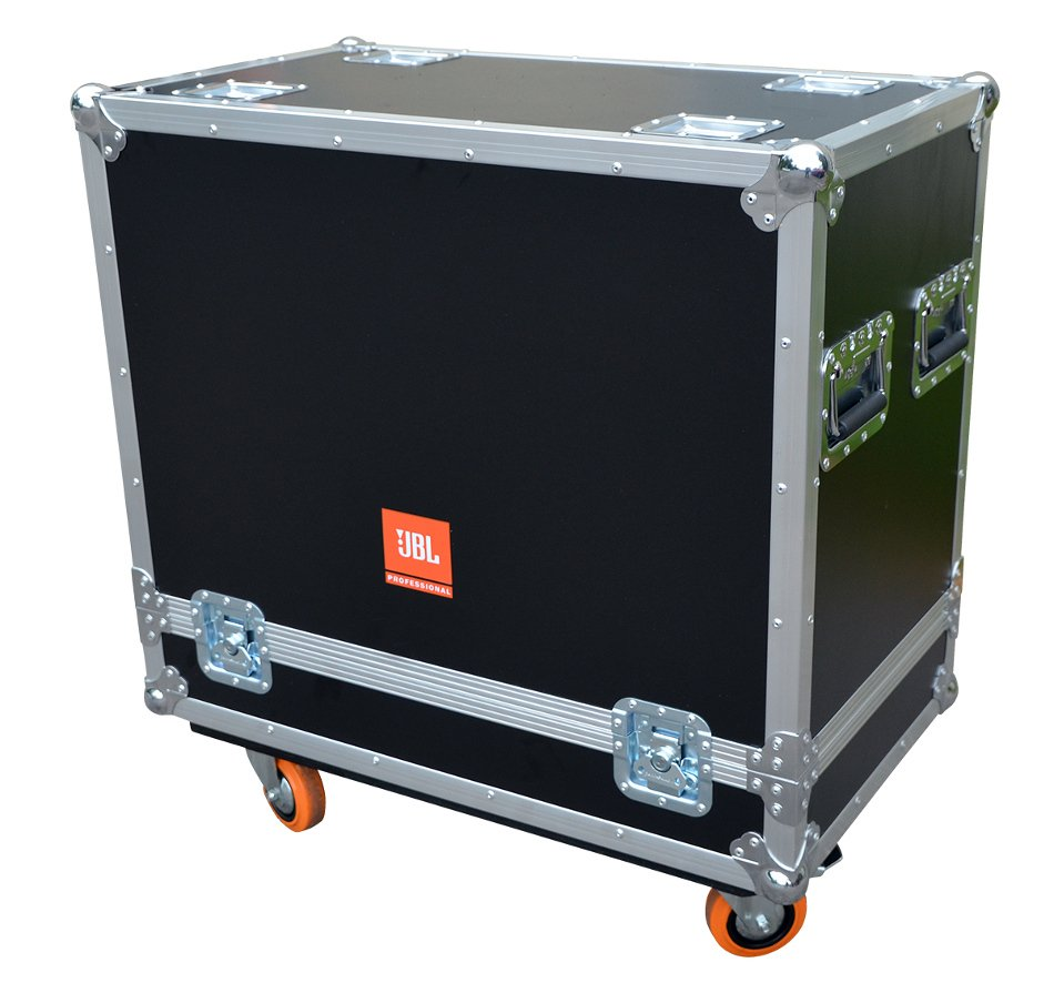 Flight Case with Casters for (2) PRX712 Loudspeakers