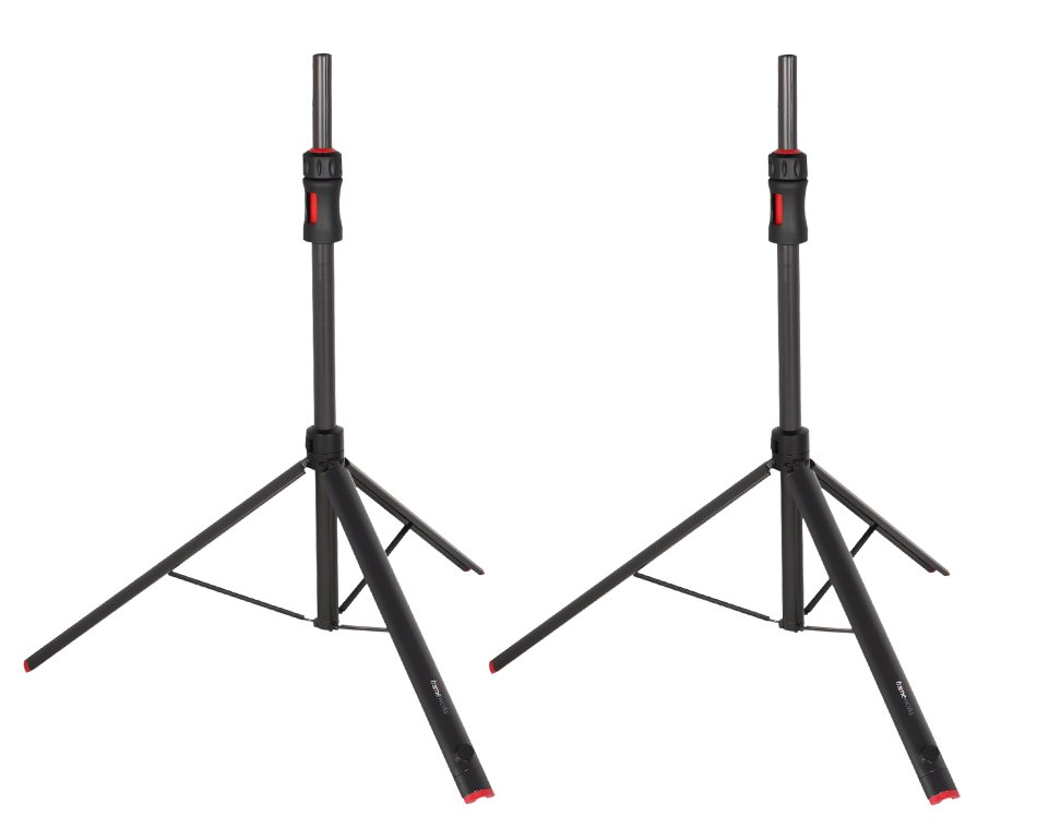 Set of (2) Frameworks ID Series Adjustable Speaker Stands with Carry Bag