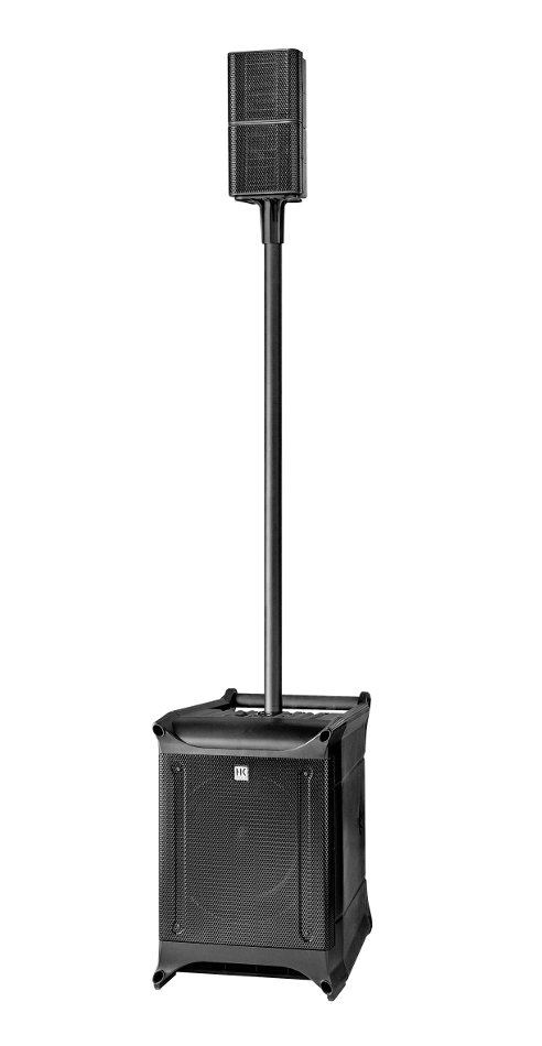 "Portable Powered PA System with (2) 4.5"" Satellite Speakers, Pole, 10"" Subwoofer"