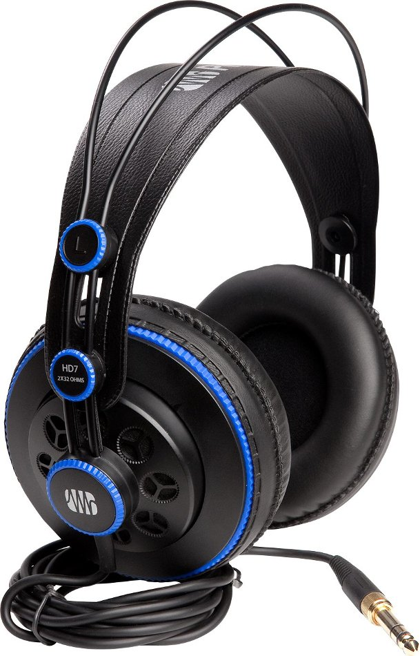 Semi-Open Monitoring Headphones with 50mm Drivers and Detachable Cable