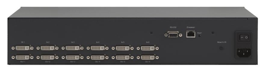 Kramer VS-66HDCPxl 6x6 DVI (HDCP) Matrix Switcher VS66HDCPXL