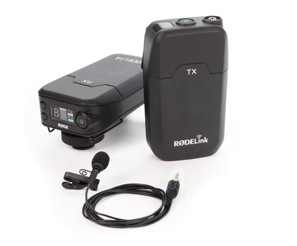 Camera-Mount Digital Wireless Lavalier Microphone System